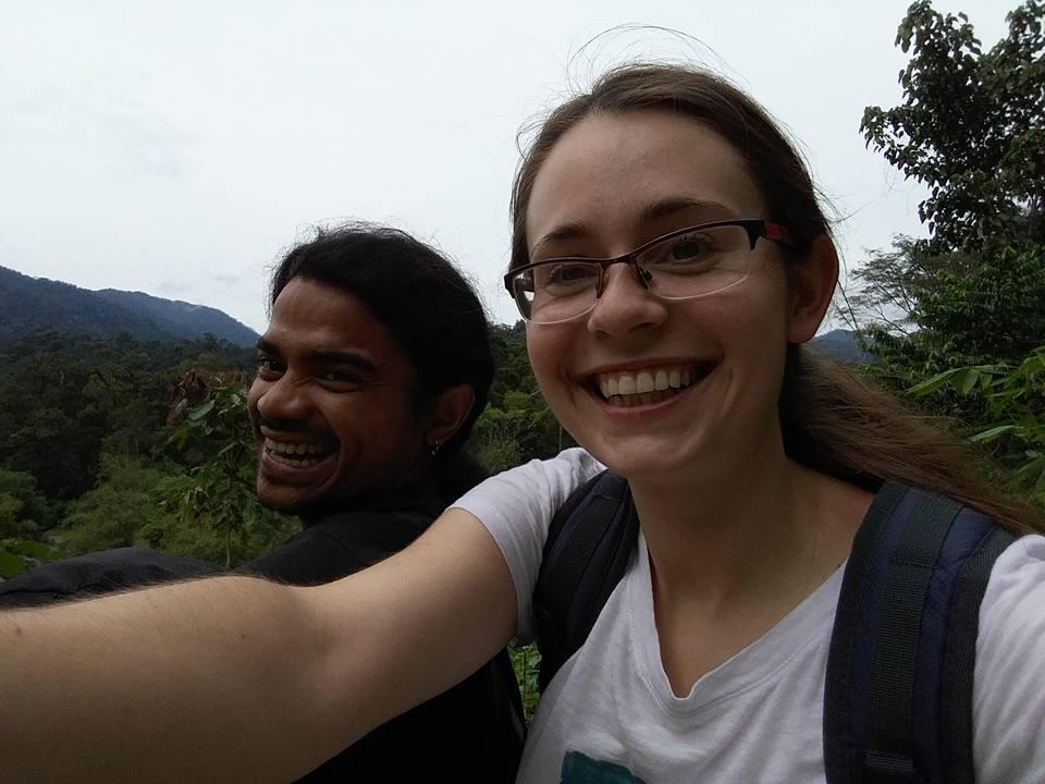 Sumatran rainforest volunteer